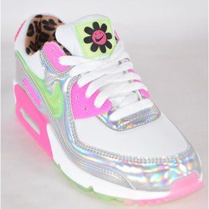 Nike Air Max 90 LX Daisy Leopard Hologram Sneakers